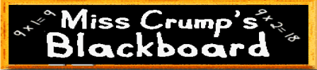 Miss Crump's Blackboard
